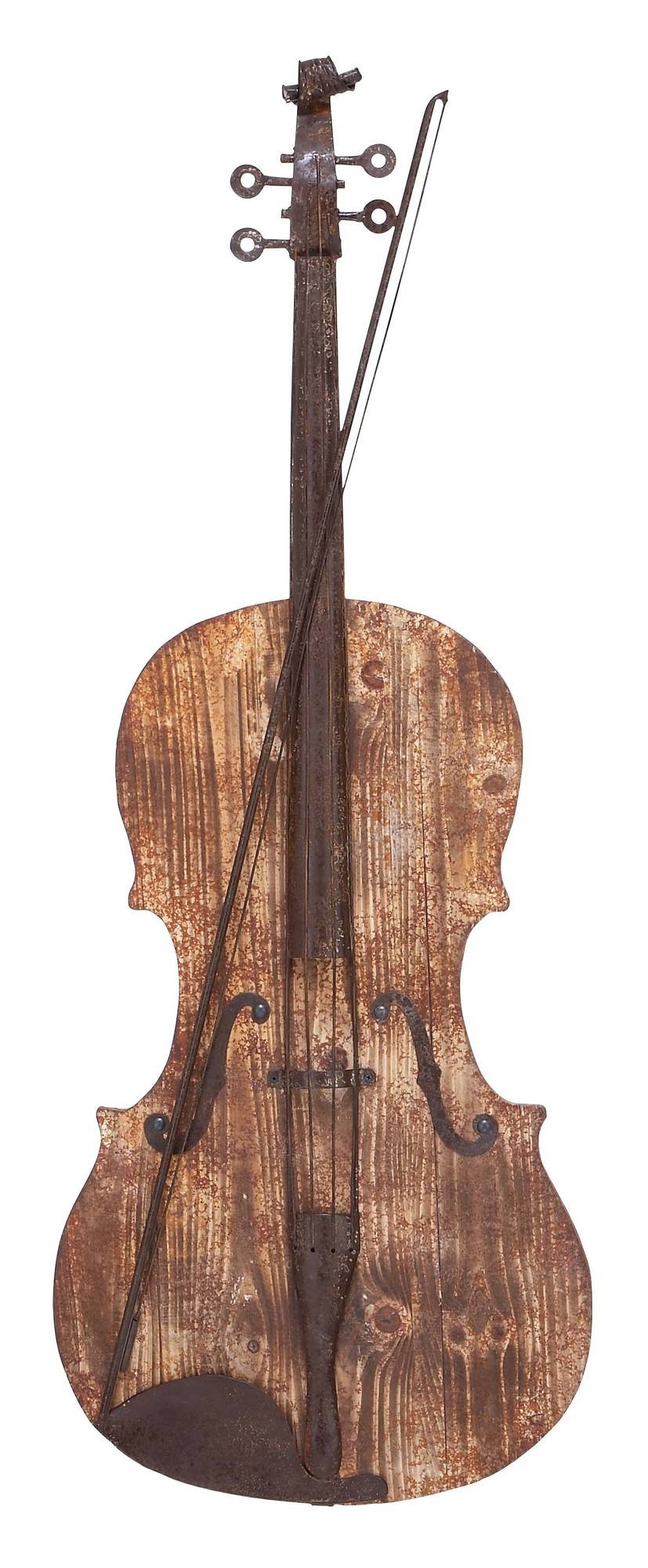 3D Violin – Musical Wood And Metal Wall Art Intended For Newest Musical Instruments Metal Wall Art (View 3 of 20)