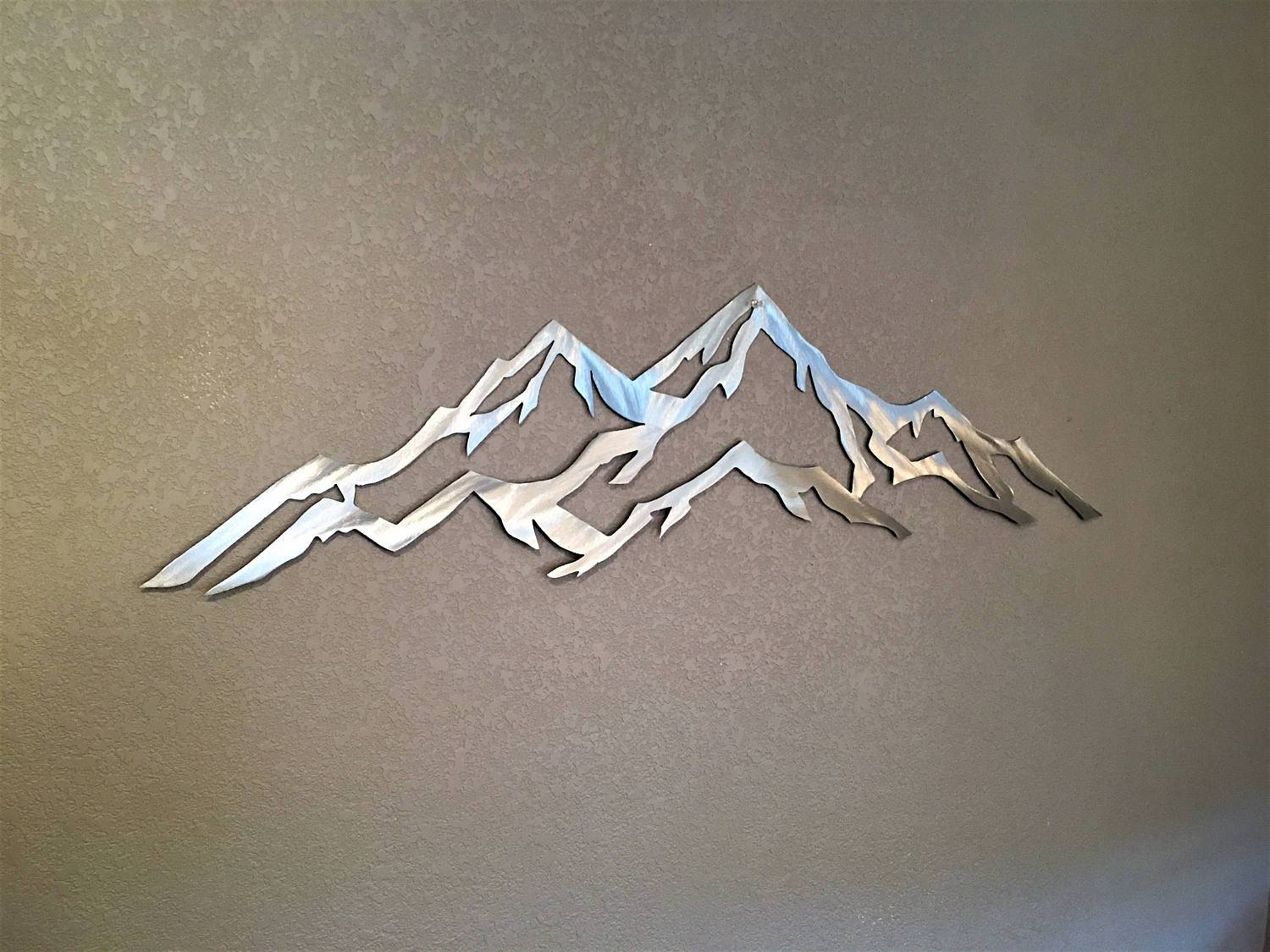 4 Foot Aspen Ski Resorts. Metal Wall Art Mountains. Aspen Mountain Pertaining To Newest Mountains Metal Wall Art (Gallery 10 of 20)