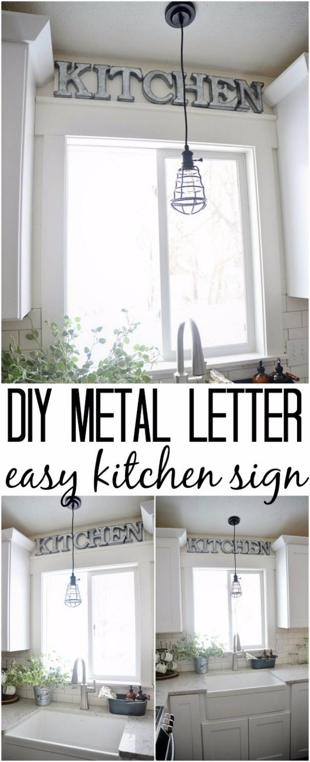 41 Amazing Diy Architectural Letters For Your Walls – Diy Projects Throughout Newest Metal Wall Art Letters (Gallery 14 of 20)
