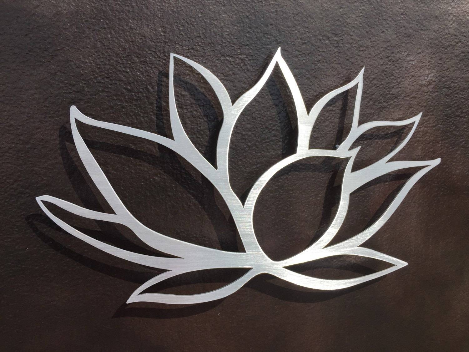 41 Silver Metal Wall Art Flowers, Home Metal Wall Art Wall Decor Regarding Most Recent Silver Metal Wall Art Flowers (View 3 of 20)