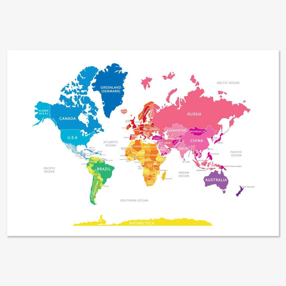 5 Really Cool World Maps To Show Kids The And Map – Roundtripticket Intended For Newest Kids World Map Wall Art (View 2 of 20)
