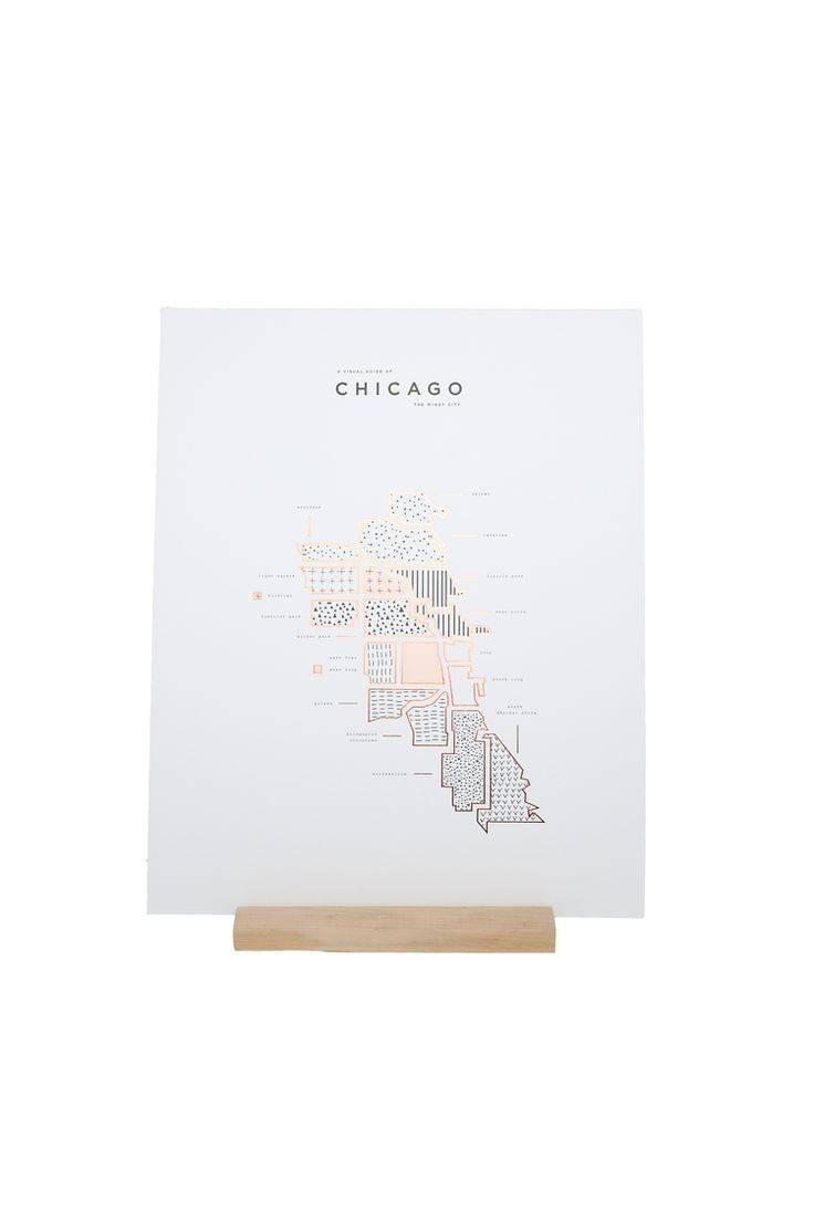 503 Best Wall Art Images On Pinterest | Mirror Walls, Mirrored In Most Popular Chicago Neighborhood Map Wall Art (View 1 of 20)