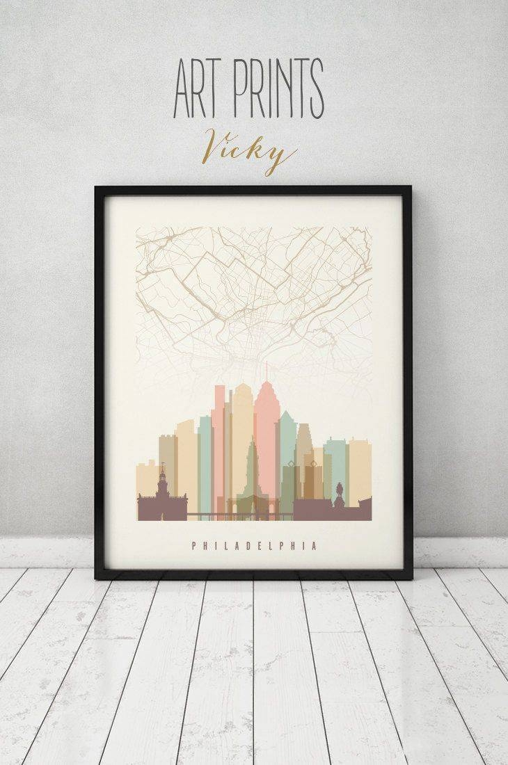 58 Best Skylines With City Maps Images On Pinterest | City Maps Within Recent City Prints Map Wall Art (View 11 of 20)