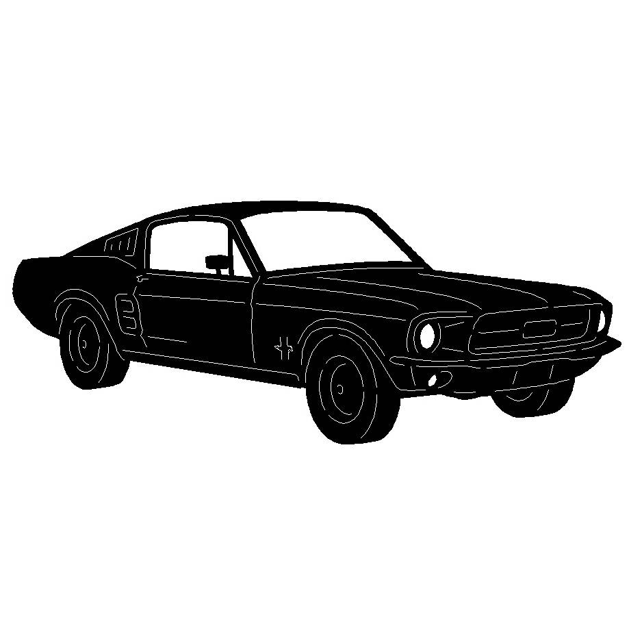 67 Mustang Fastback Wall Art – Paris Metal Art Throughout Best And Newest Ford Mustang Metal Wall Art (Gallery 12 of 20)