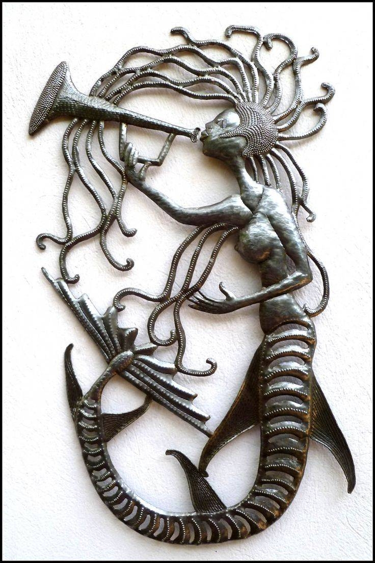 74 Best Metal Mermaid Wall Art – Handcrafted From Recycled Steel Pertaining To Latest Mermaid Metal Wall Art (View 16 of 20)