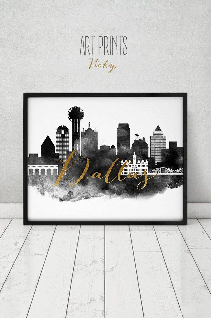 81 Best City Skylines In Black And White Images On Pinterest With Recent City Prints Map Wall Art (Gallery 17 of 20)