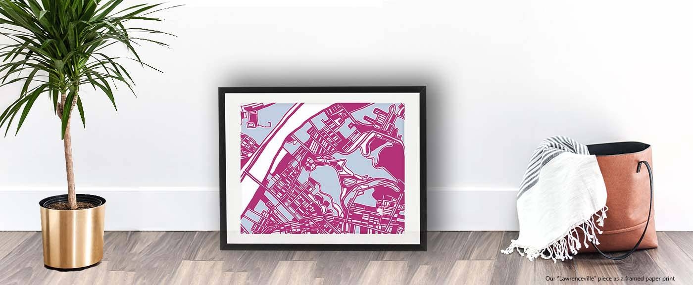 Abstract Map Prints Of Pittsburgh Neighborhoods | Digitally Merged Within 2017 Pittsburgh Map Wall Art (View 6 of 20)