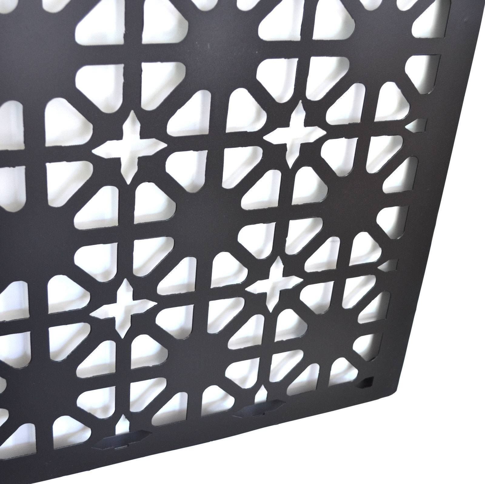 Abstract Metal Wall Art Hanging Laser Cut Out Garden Screen 120Cm Intended For Most Popular Laser Cut Metal Wall Art (View 1 of 20)