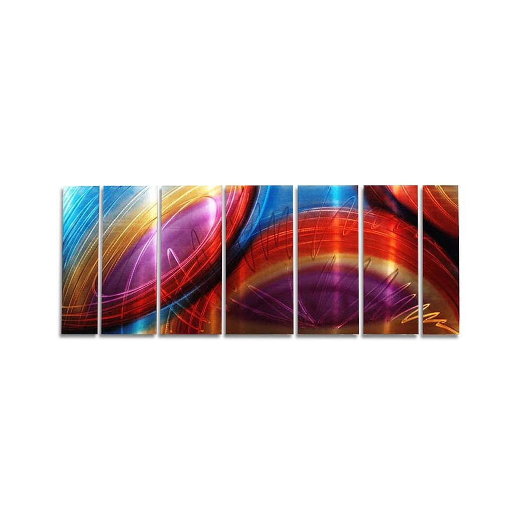 "Accumbent – Prismatic Abstract Metal Wall Artjon Allen – 68"" X 24"" Throughout Most Recent Colorful Metal Wall Art (View 18 of 20)"