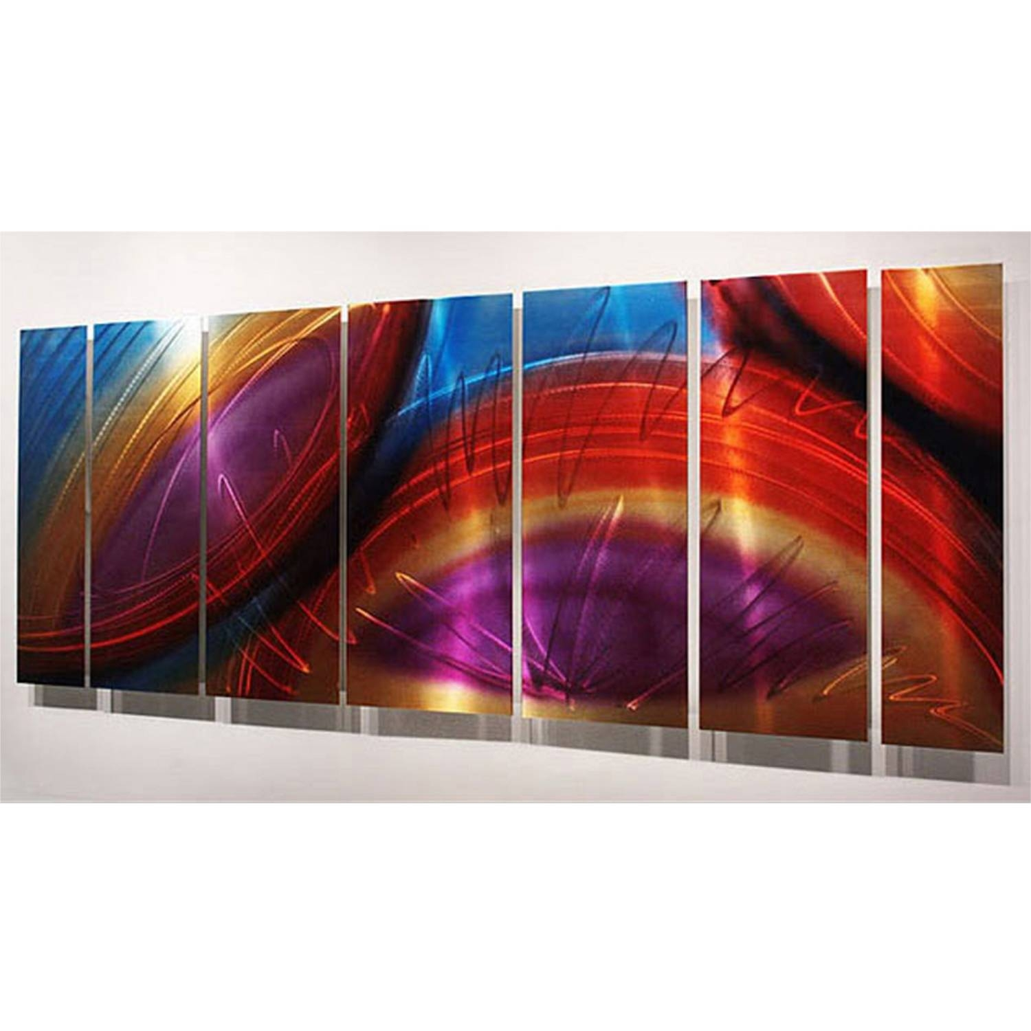 "Accumbent – Prismatic Abstract Metal Wall Artjon Allen – 68"" X 24"" Throughout Recent Colorful Metal Wall Art (View 2 of 20)"