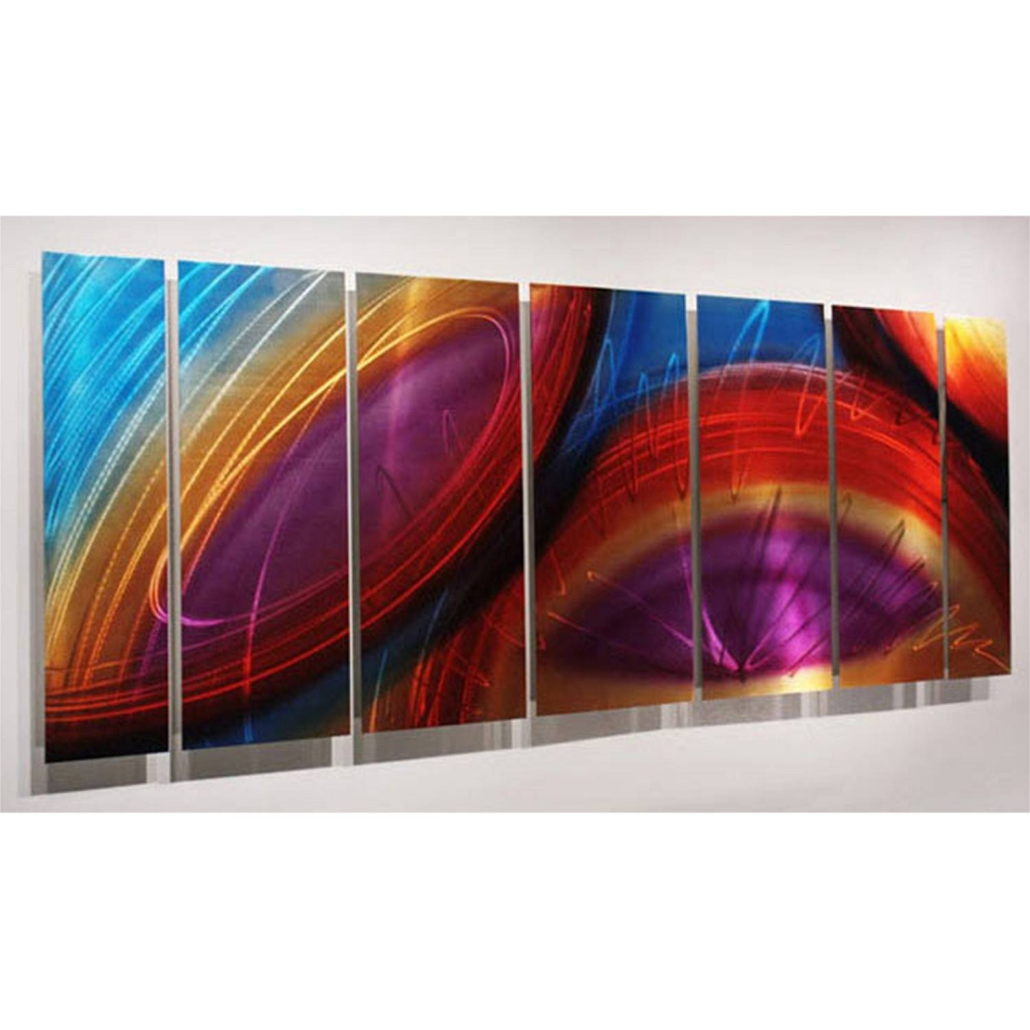 "Accumbent – Prismatic Abstract Metal Wall Artjon Allen – 68"" X 24"" With Most Current Colorful Metal Wall Art (View 3 of 20)"