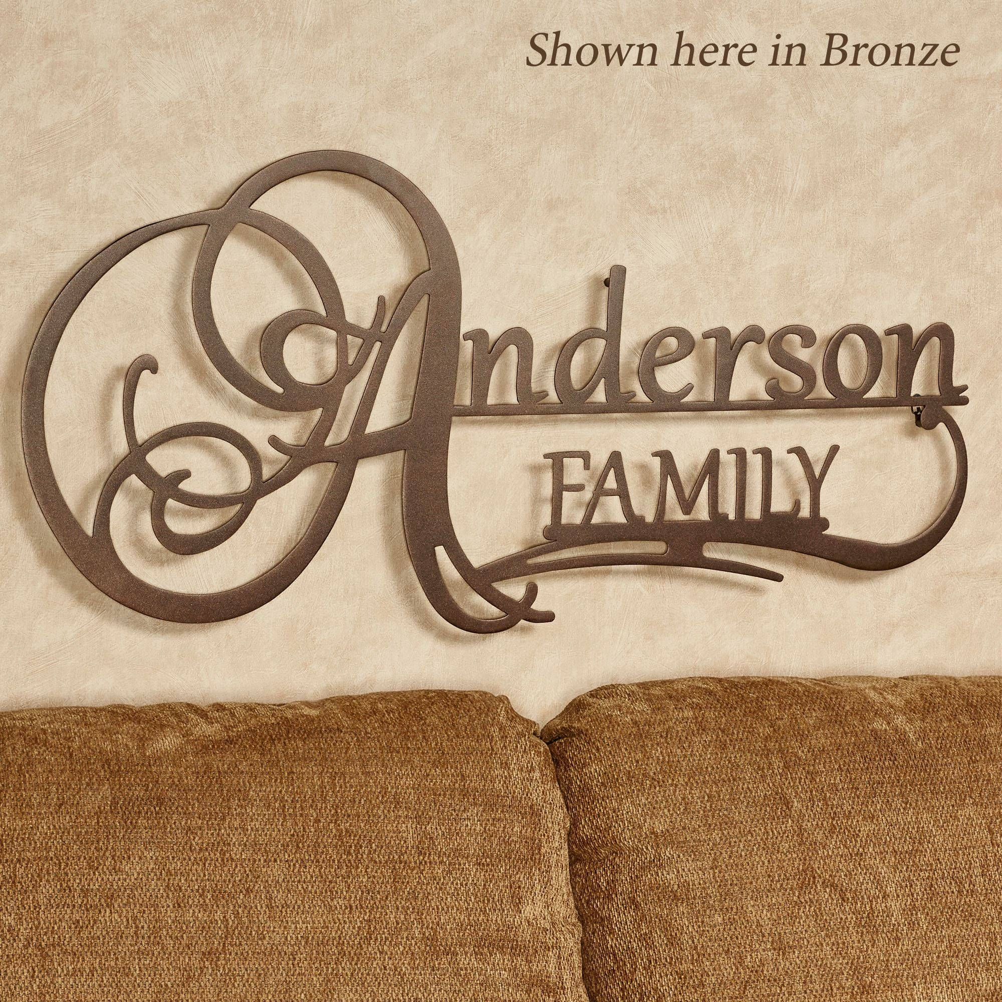 Affinity Family Personalized Metal Wall Art Signjasonw Studios Within Current Family Metal Wall Art (View 1 of 20)