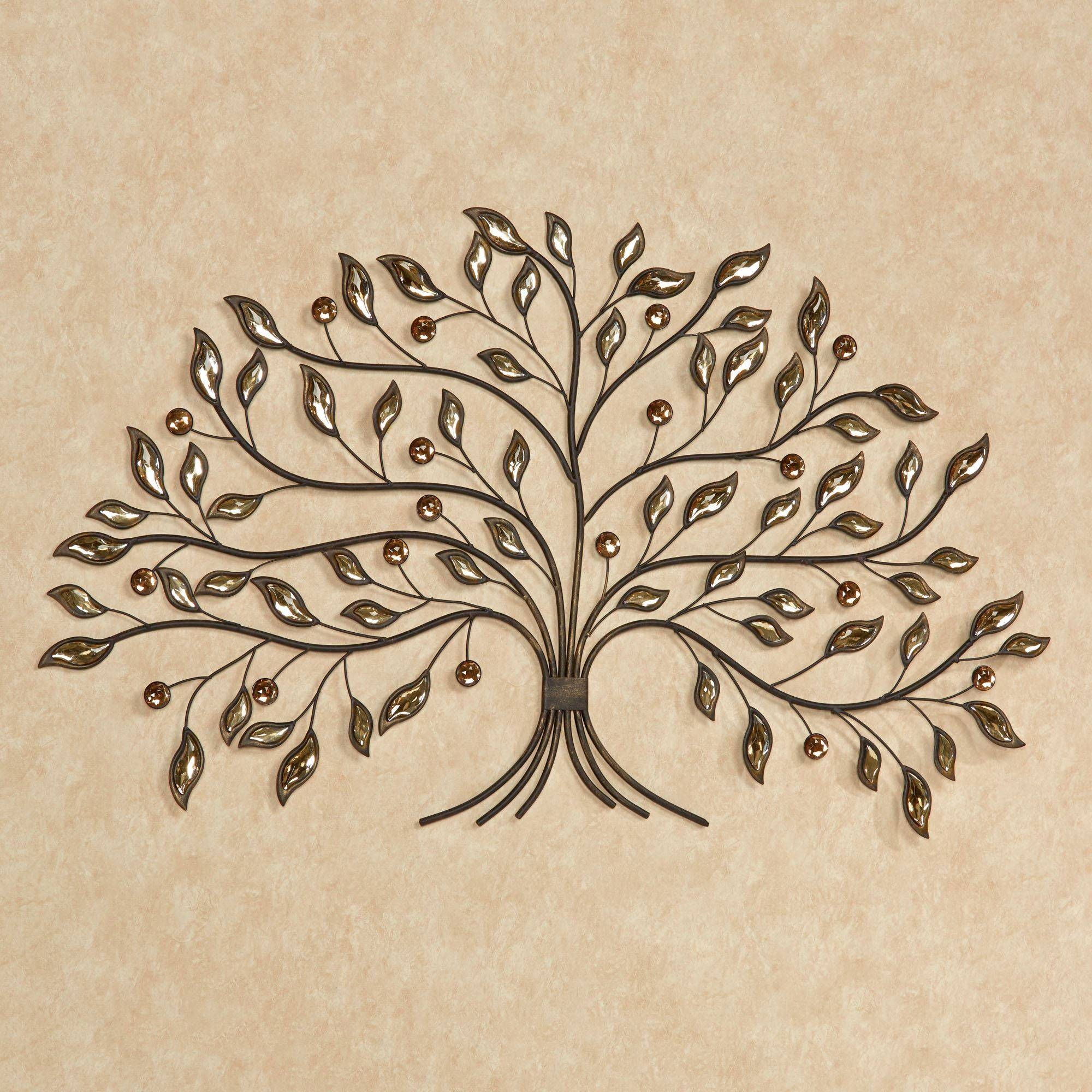 Alexandra Vining Gem Tree Metal Wall Art With 2018 White Metal Wall Art (View 18 of 20)