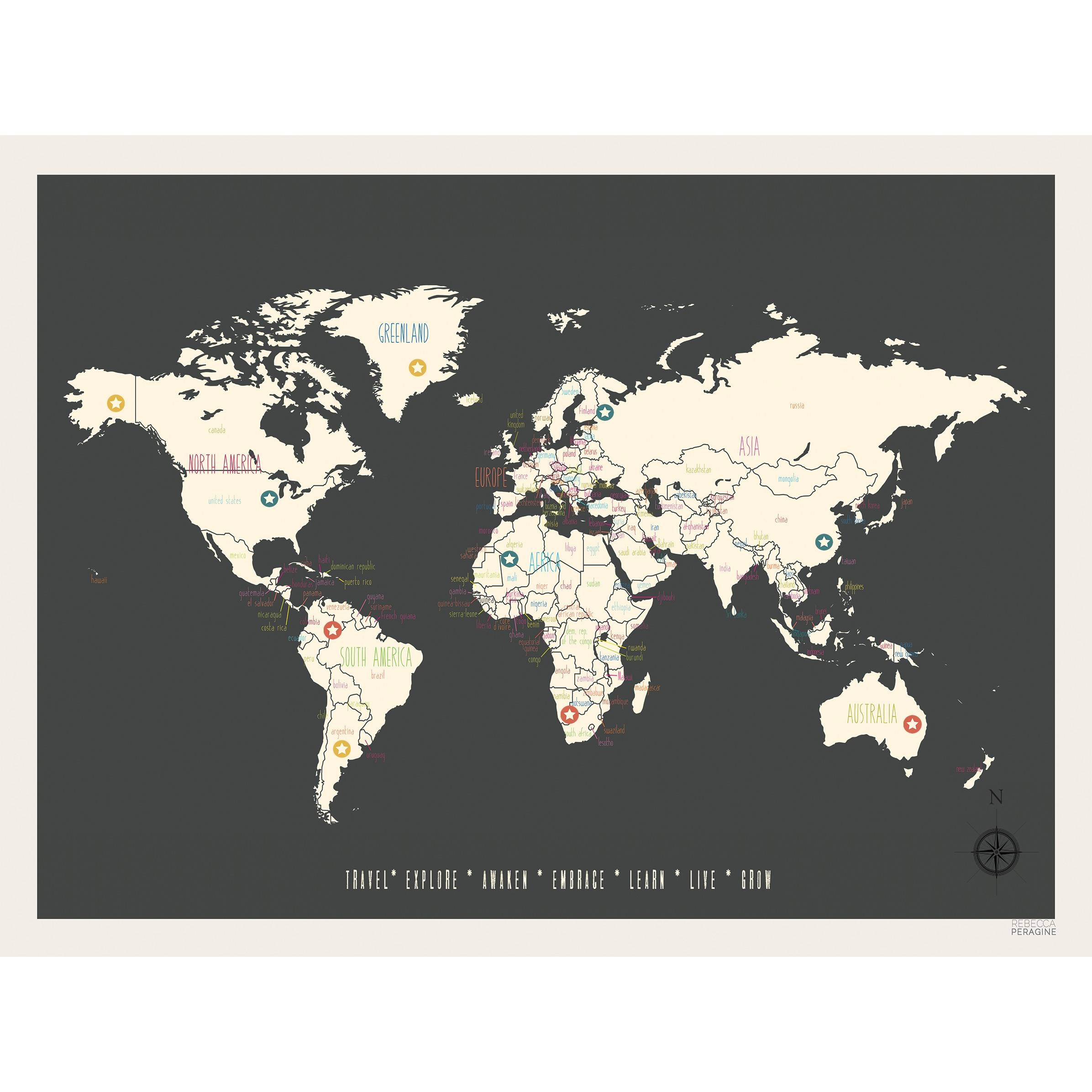 All Wall Art Wayfair Vintage Personalized World Travel Map Graphic Pertaining To Best And Newest Travel Map Wall Art (View 1 of 20)