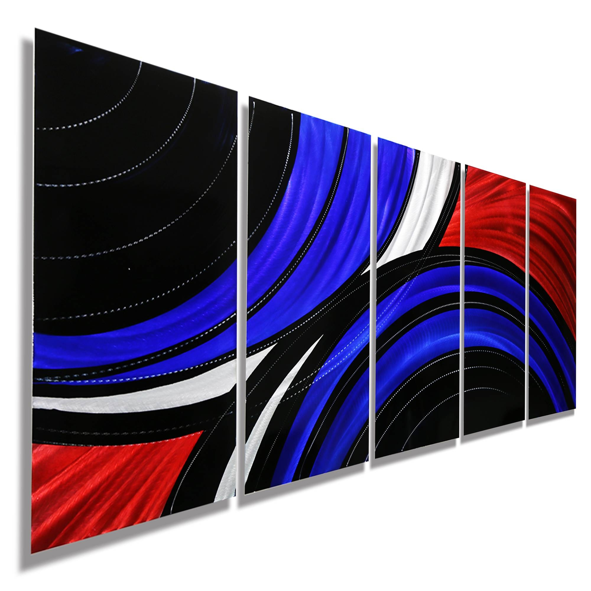 Allegiant – Extra Large Abstract Red, Blue & Black Modern Metal In Most Recently Released Red And Black Metal Wall Art (View 2 of 20)