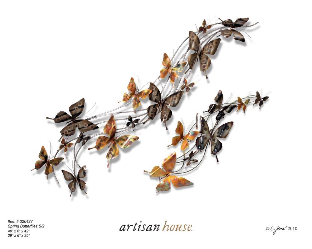 Aluminum Butterfly Wall Art   Wallartideas Regarding Most Recently Released Butterflies Metal Wall Art (View 2 of 20)