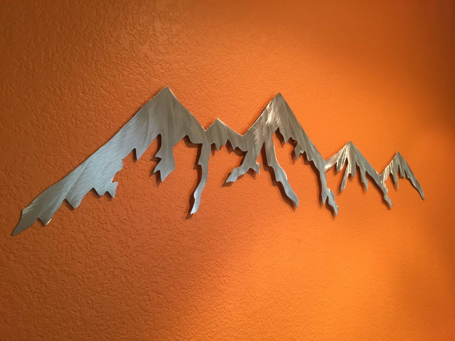 Aluminum Metal Wall Art Mountains For Outside Or Inside Within Most Recently Released Mountains Metal Wall Art (View 2 of 20)