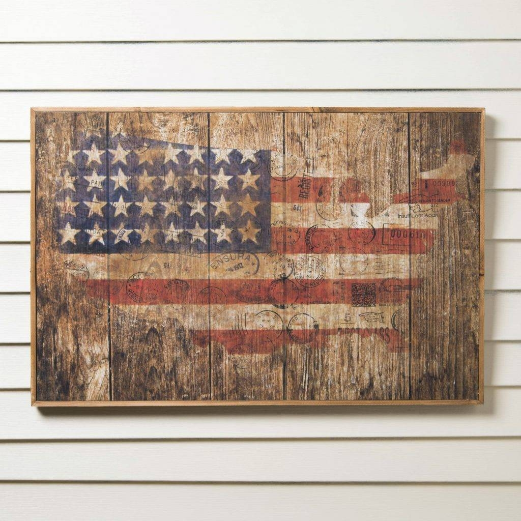 Amazing Design Rustic American Flag Wall Art Wood Wooden Metal Pertaining To Most Up To Date Wood And Metal Wall Art (View 17 of 20)