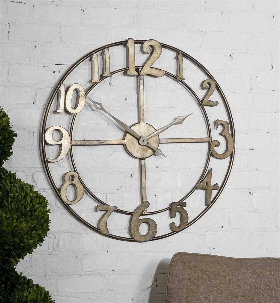 Amazing Metal Art Wall Clock 56 Contemporary Butterfly Metal Wall In Most Recent Large Metal Wall Art Clocks (View 9 of 20)