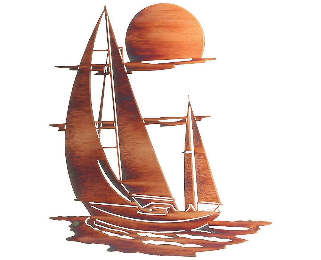 Amazing Sailboat Wall Decor 14 Sailboat Wheel Wall Decor Stratton For Best And Newest Metal Wall Art Ships (View 3 of 20)