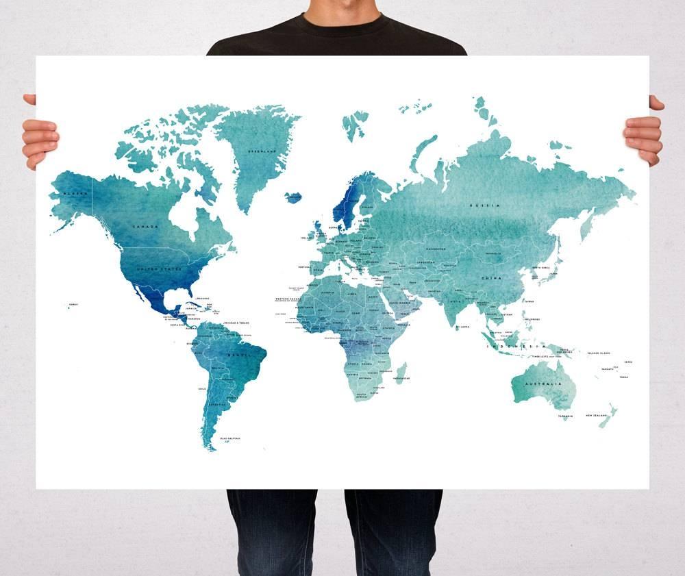 Amazon Com Southern Enterprises Iron World Map Wall Art Home And Inside Recent World Map Wall Art Print (View 2 of 20)