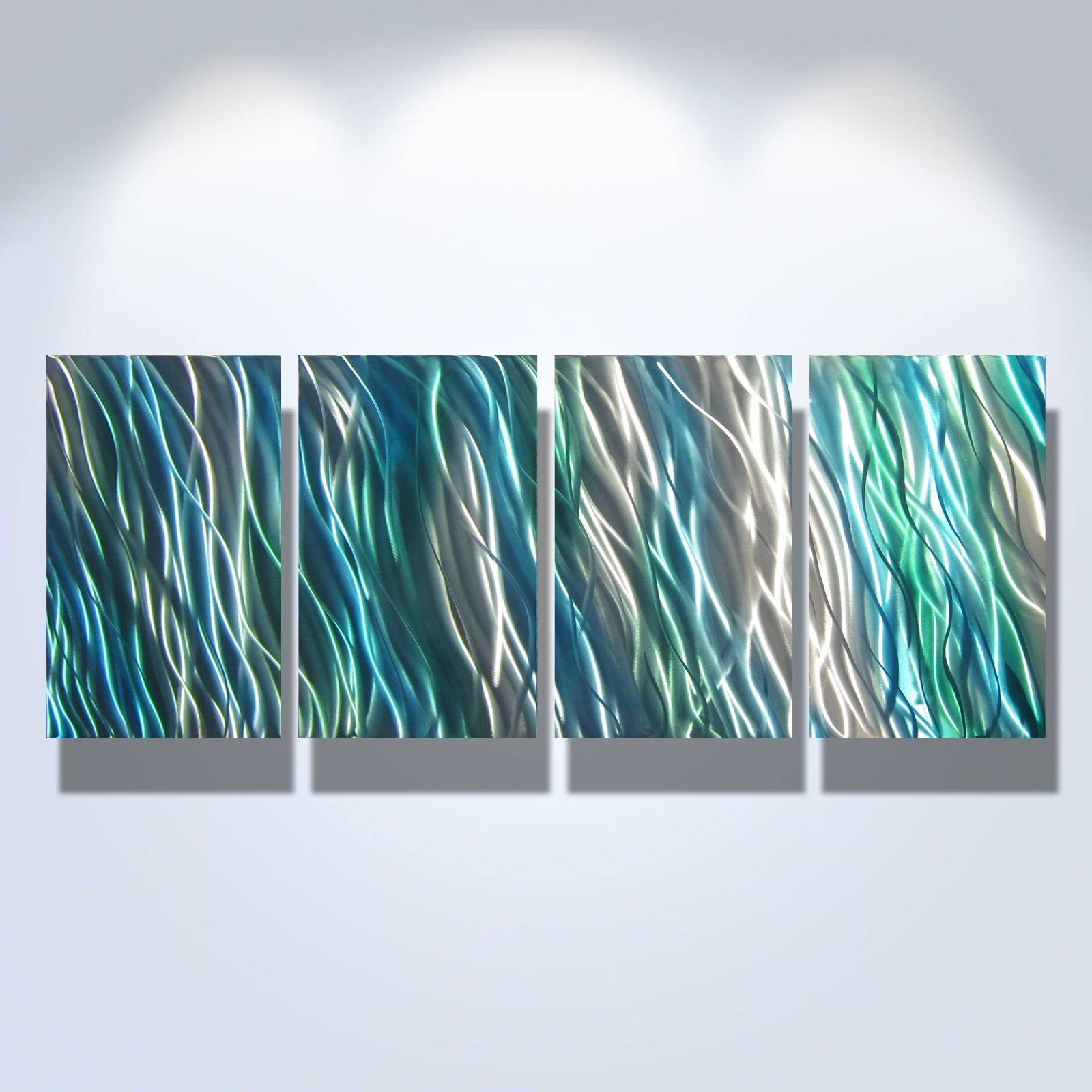 Amazon  Metal Wall Art Abstract Sculpture Painting Modern Decor On For Latest Teal Metal Wall Art (View 2 of 20)