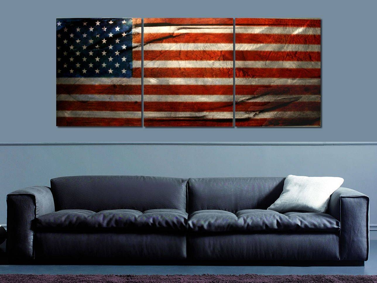 American Glory | Modern Patriotic Wall Art | Abstract American Inside Most Current American Flag Metal Wall Art (View 4 of 20)