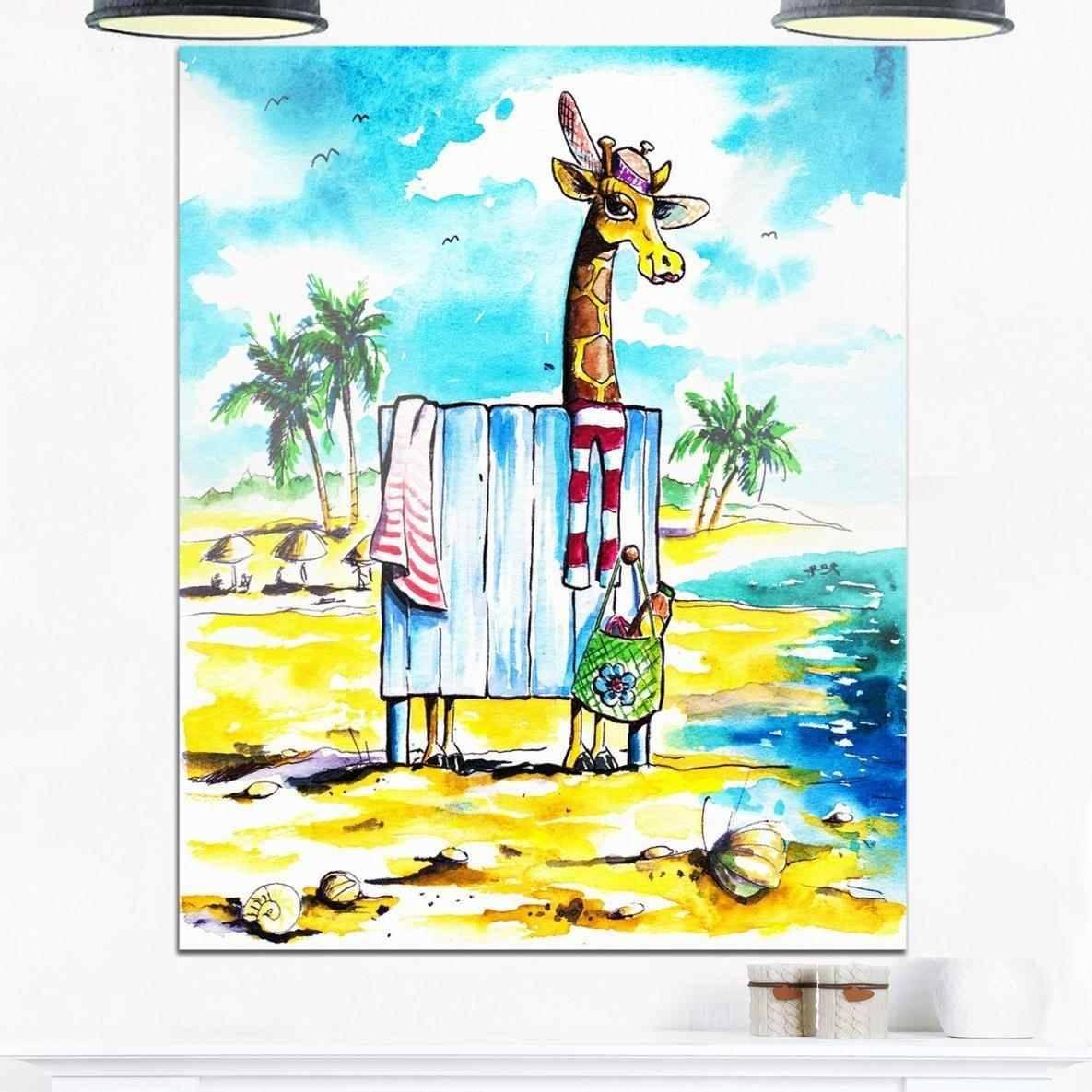 Animal Designart Giraffe Metal Wall Art Giraffe In Dressing Room With Regard To Most Recently Released Giraffe Metal Wall Art (View 3 of 20)