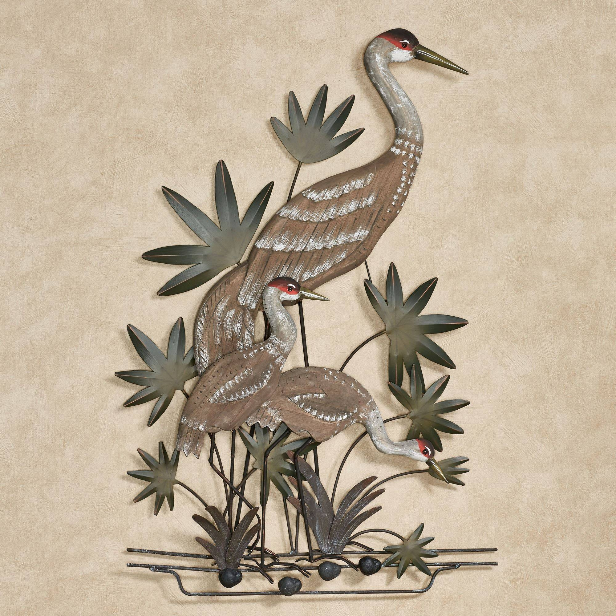 Animal Metal Wall Sculptures | Touch Of Class With Regard To Current Heron Metal Wall Art (View 1 of 20)