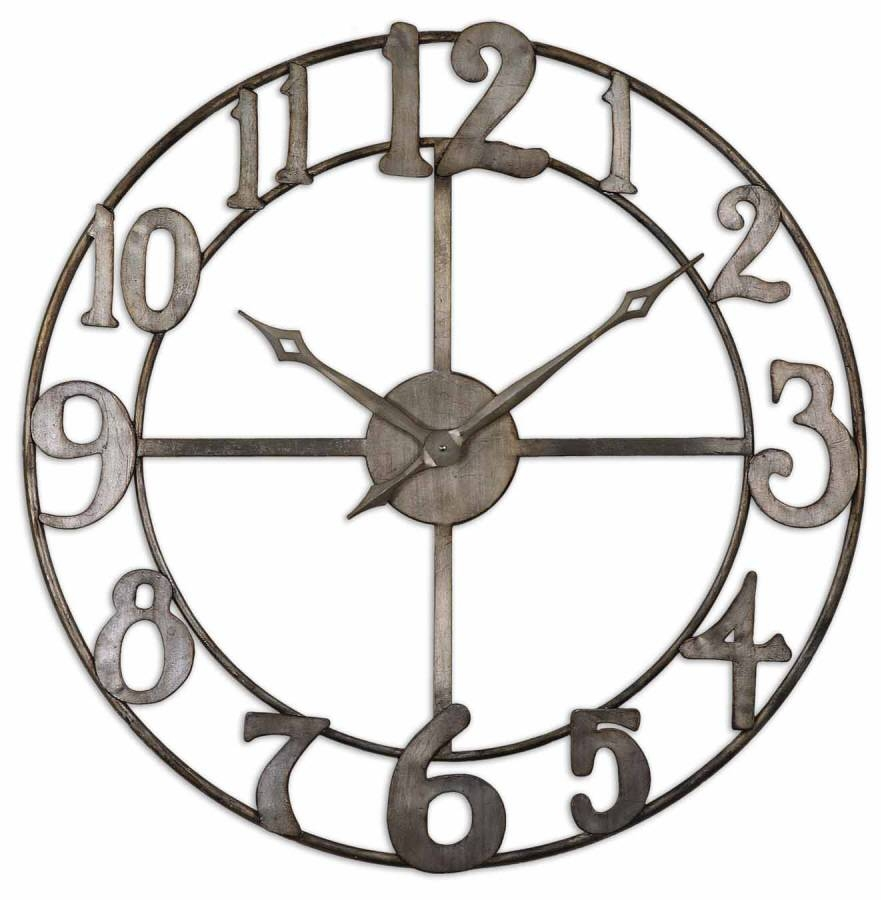 Antique Silver Open Work – Metal Clock Wall Art Inside Most Current Large Metal Wall Art Clocks (View 2 of 20)