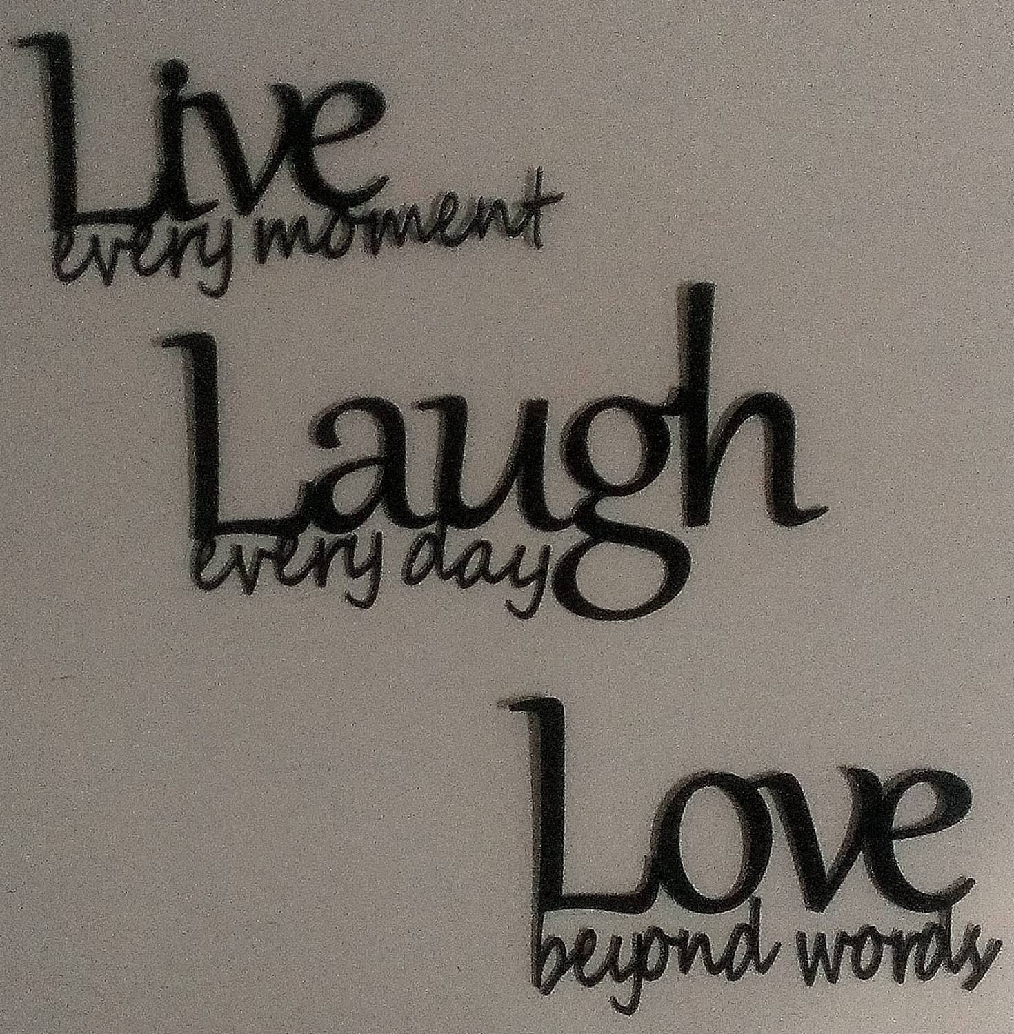 Appealing Live Laugh Love Metal Wall Decor As Well As Wall Ideas With Regard To Most Up To Date Live Laugh Love Metal Wall Art (View 2 of 20)