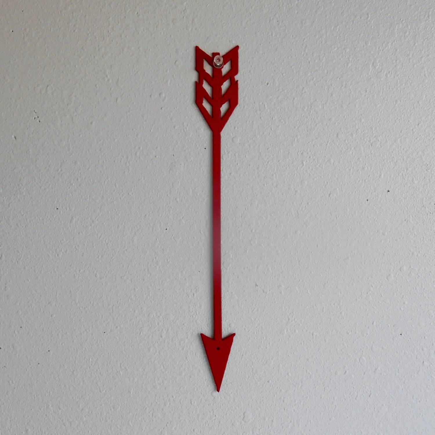 Arrow / Red / Metal Art / Wall Hanging / Home Decor / Indian / Throughout Latest Native American Metal Wall Art (View 2 of 20)