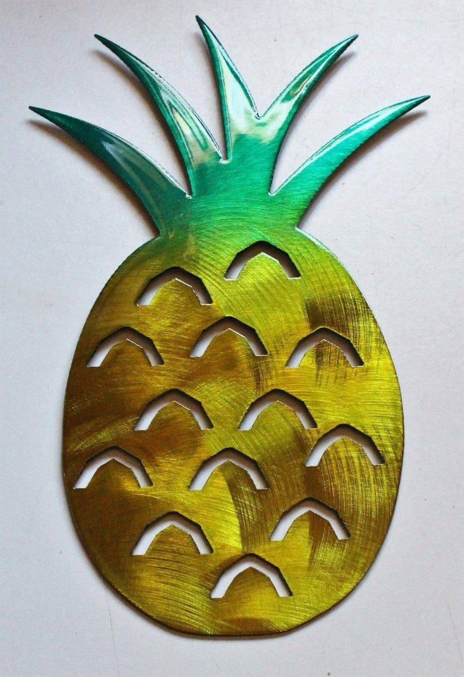 Articles With Pineapple Wall Art Metal Tag: Pineapple Wall Art Pertaining To Recent Pineapple Metal Wall Art (View 17 of 20)