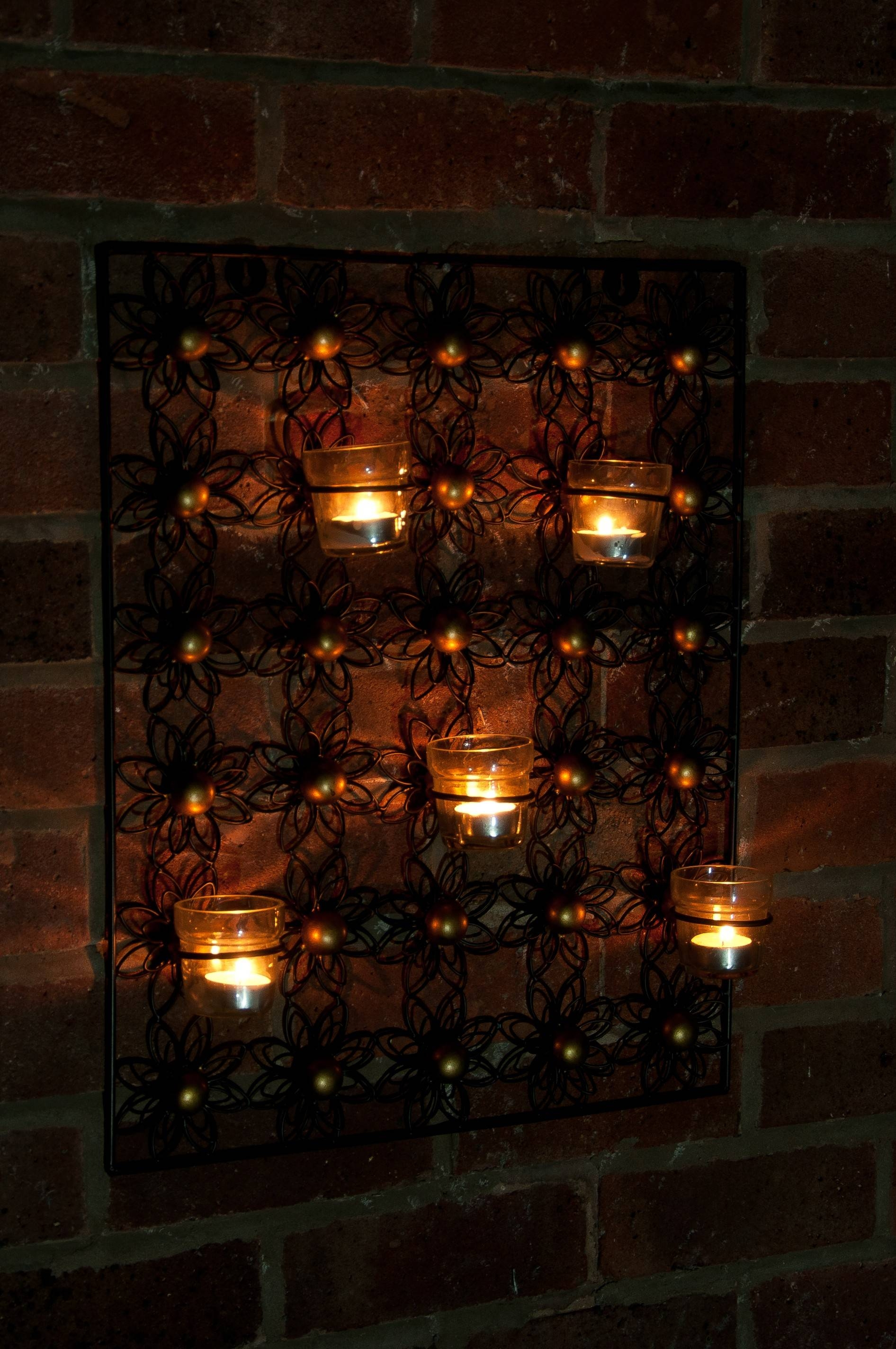 Articles With Tealight Candle Holders Wall Art Tag: Candle Wall With Regard To Most Recent Metal Wall Art With Candle Holders (View 2 of 20)