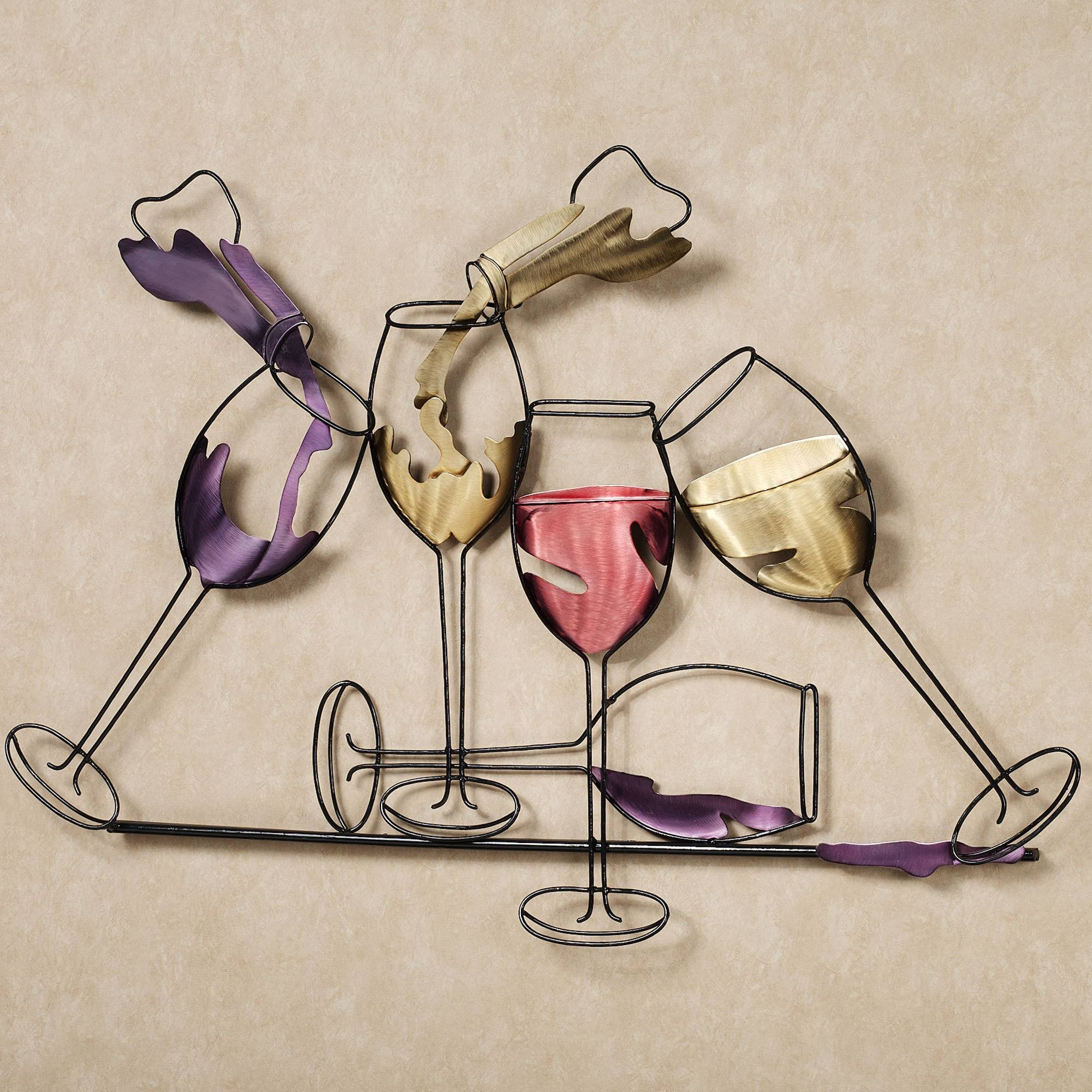 Artistic Glasses With Water Spilled Ideas For~ Popular Home In 2018 Metal Wall Art Decor And Sculptures (View 2 of 20)