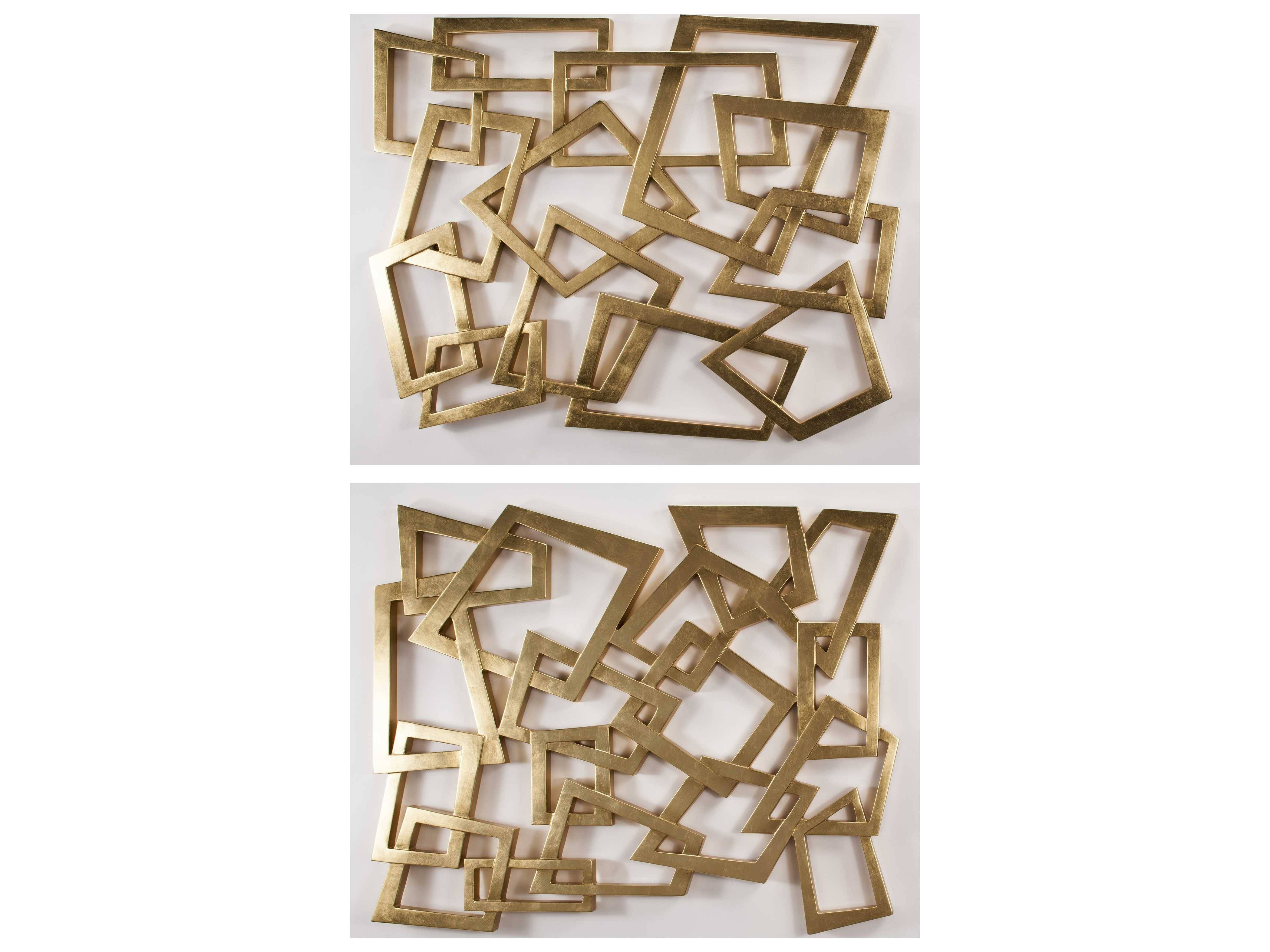 Artmax Wall Decor | Luxedecor Throughout Current Gold Metal Wall Art (View 11 of 20)