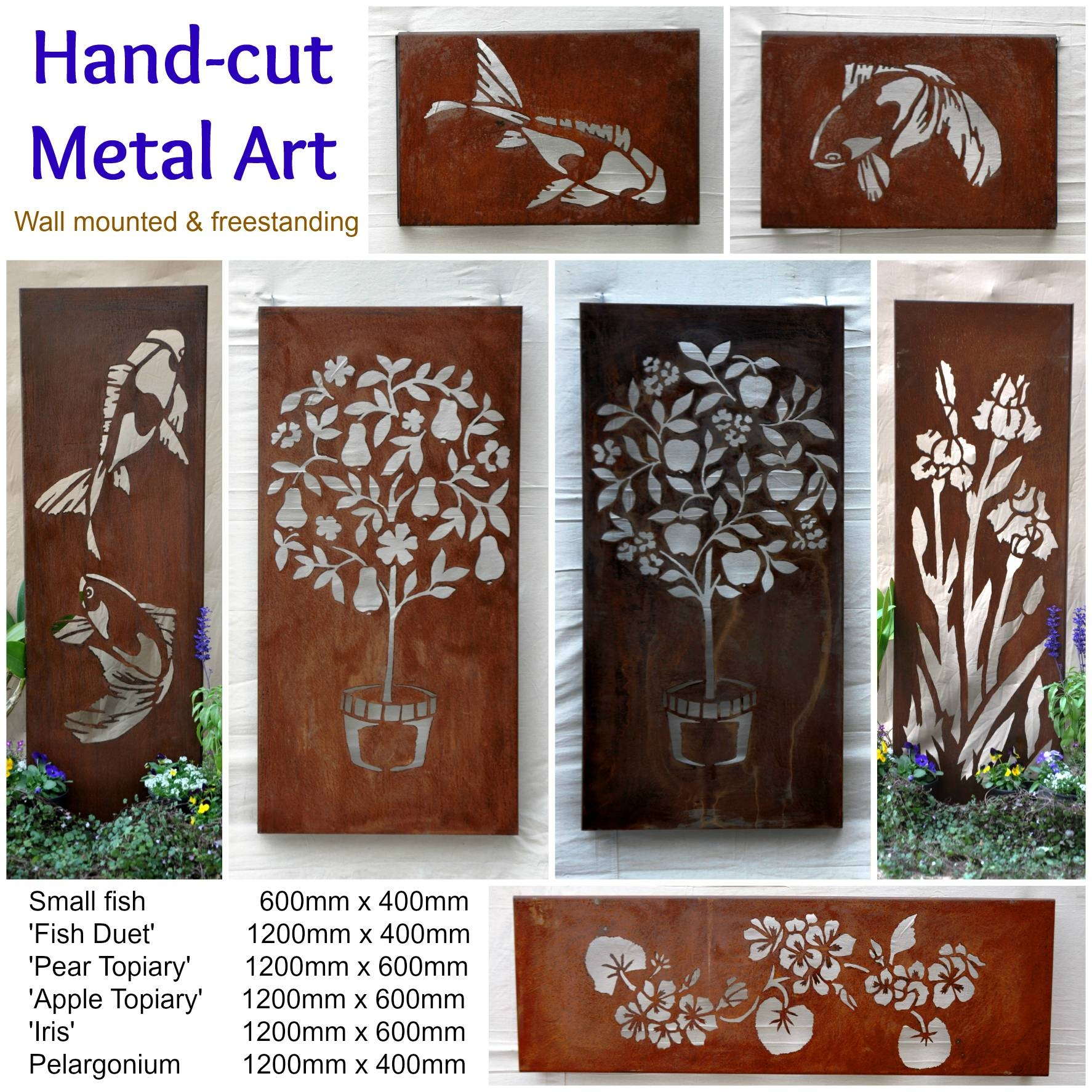Australian Metal Artwork, Garden Art, Metal Wall Art | Farmweld Throughout Most Popular Rusted Metal Wall Art (View 15 of 20)