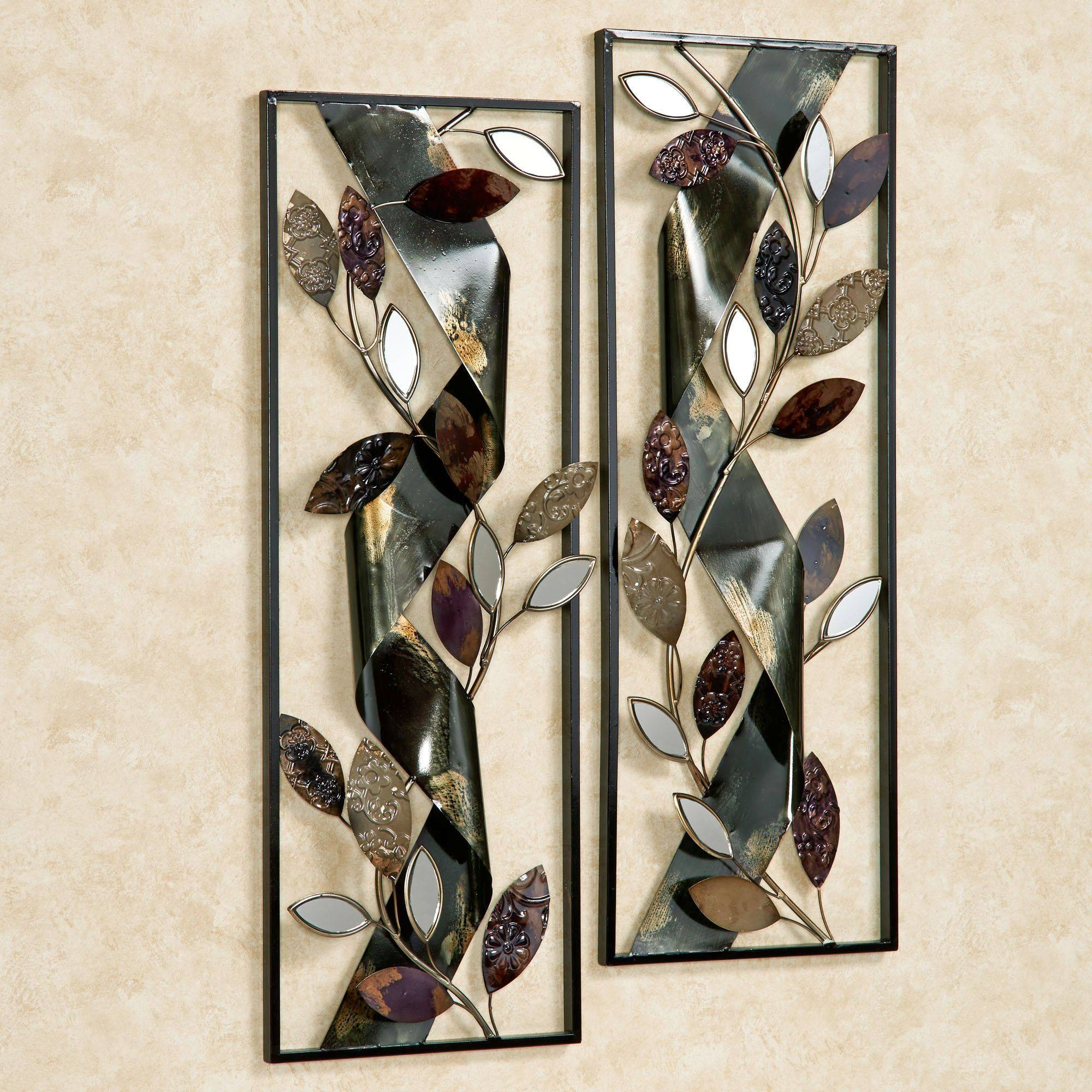 Autumn Whisper Metal Wall Art Panel Set Pertaining To Most Recent Metal Wall Art Panels (View 10 of 20)