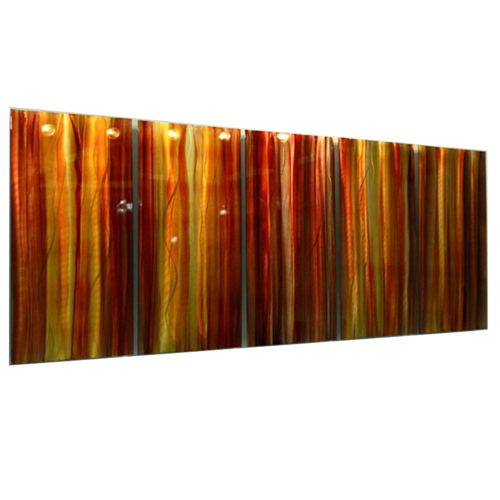 Autumns Prism – Red, Yellow & Orange Contemporary Metal Wall Art For Current Orange Metal Wall Art (View 4 of 20)