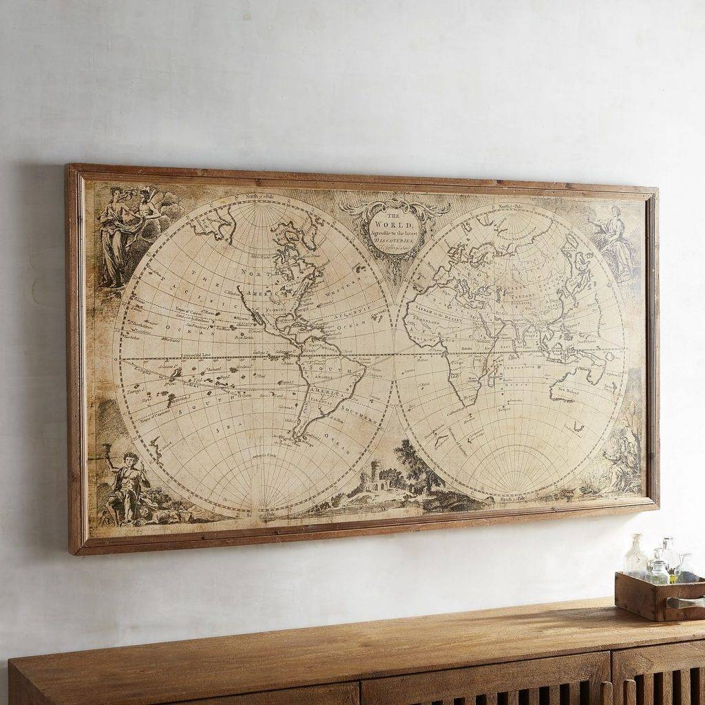 Awesome Map Wall Art Diy Canvas Ideas Uk Etsy Antique Maps Ikea Pertaining To Most Up To Date Map Wall Art Canada (View 1 of 20)