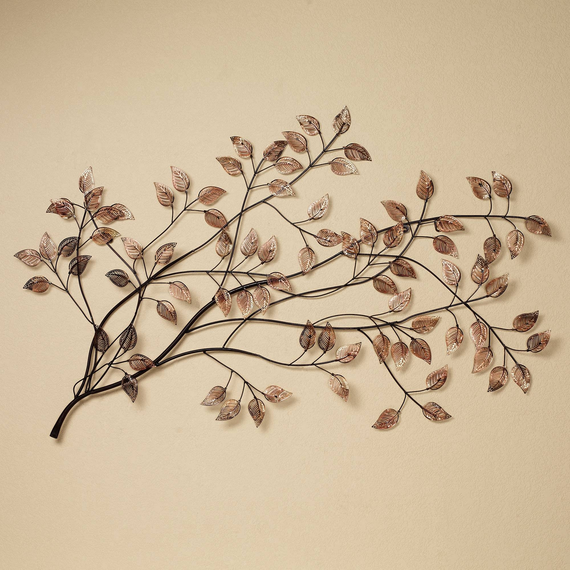 Awesome Natural Plant Design For Metal Wall Art And Decor Leaves Inside Recent Metal Wall Art Decor (View 4 of 20)