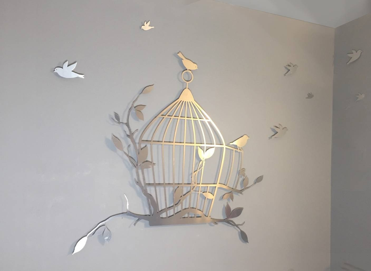 Awesome Wall Decor Metal Birdcage Wall Art Metal Birdcage Wall Regarding 2018 Birdcage Metal Wall Art (View 2 of 20)