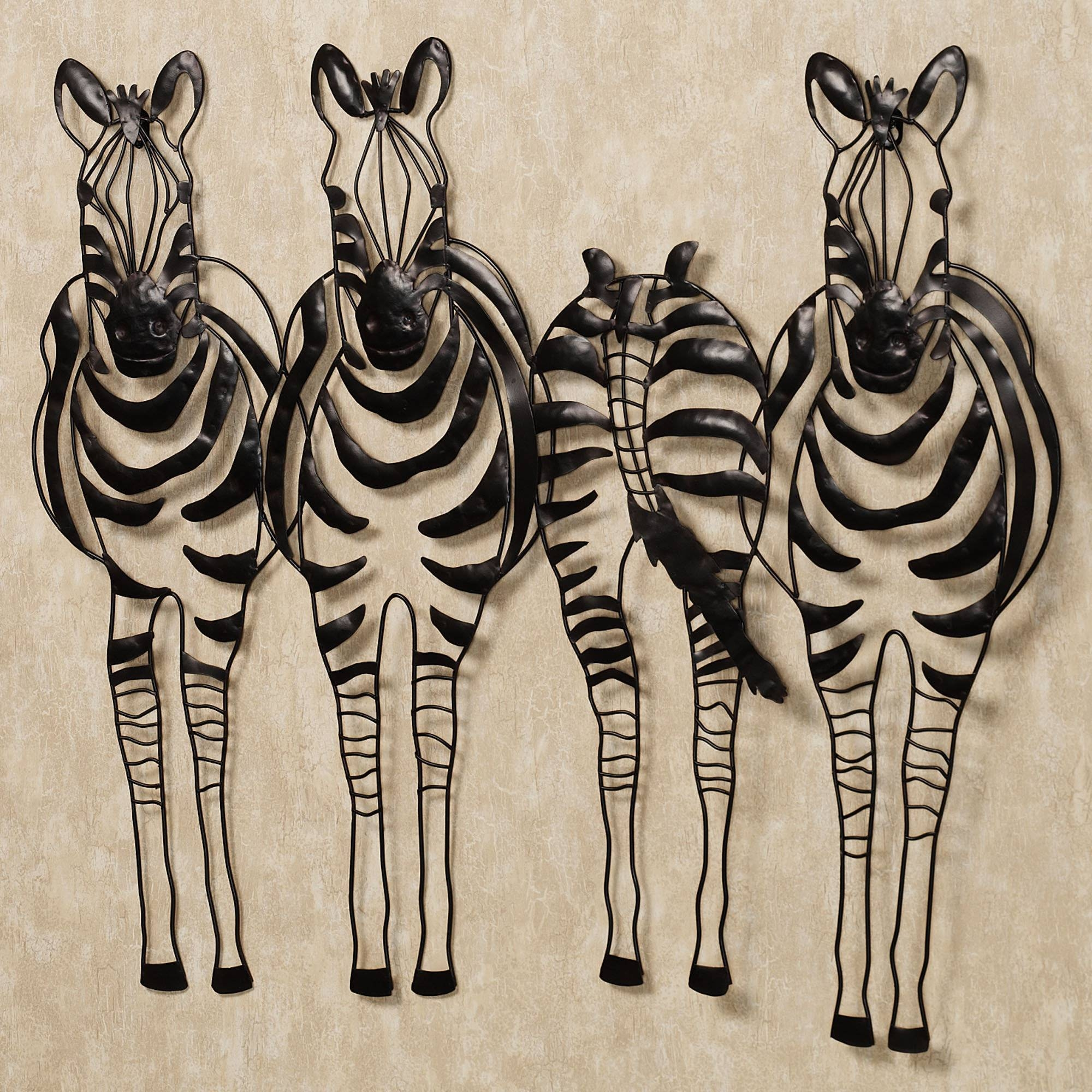 Awesome Zebra Home Decor Metal Wall Sculptures~ Popular Home Intended For Latest Metal Wall Art Decor And Sculptures (View 4 of 20)