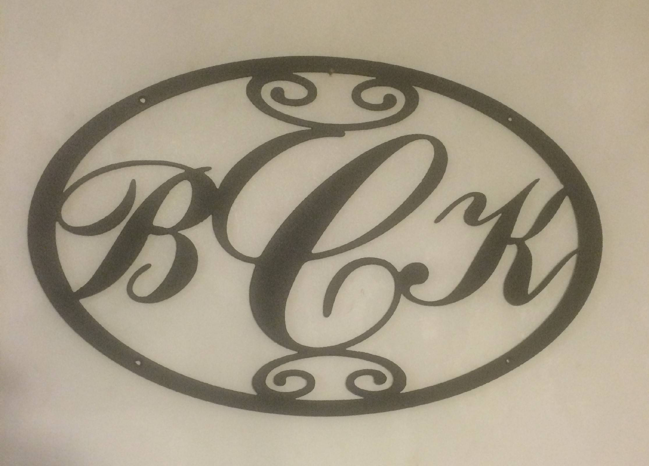 Back 40 Metal Worx – Unique Metal Wall Art And Yard Signs With Regard To Newest Monogram Metal Wall Art (View 2 of 20)