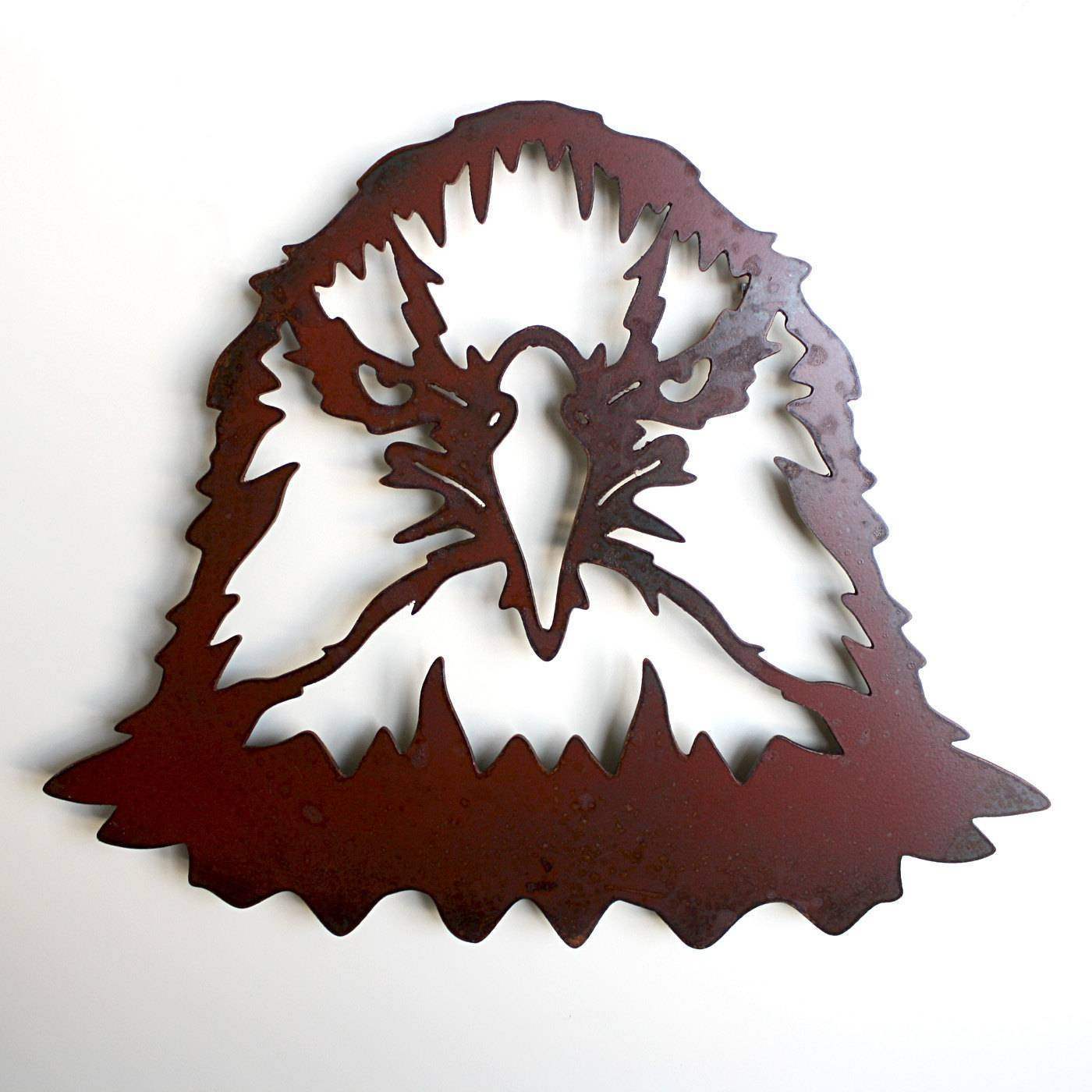 Bald Eagle Metal Wall Art 16 Wide Eagle Head Wall Inside Most Popular Eagle Metal Wall Art (View 11 of 20)