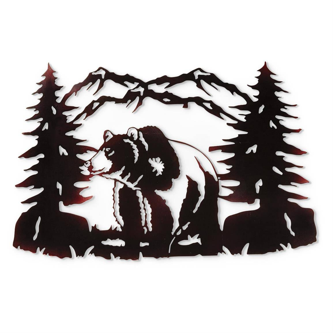 Bear Metal Wall Art – 648669, Wall Art At Sportsman's Guide Inside Most Recent Deer Metal Wall Art (View 2 of 20)
