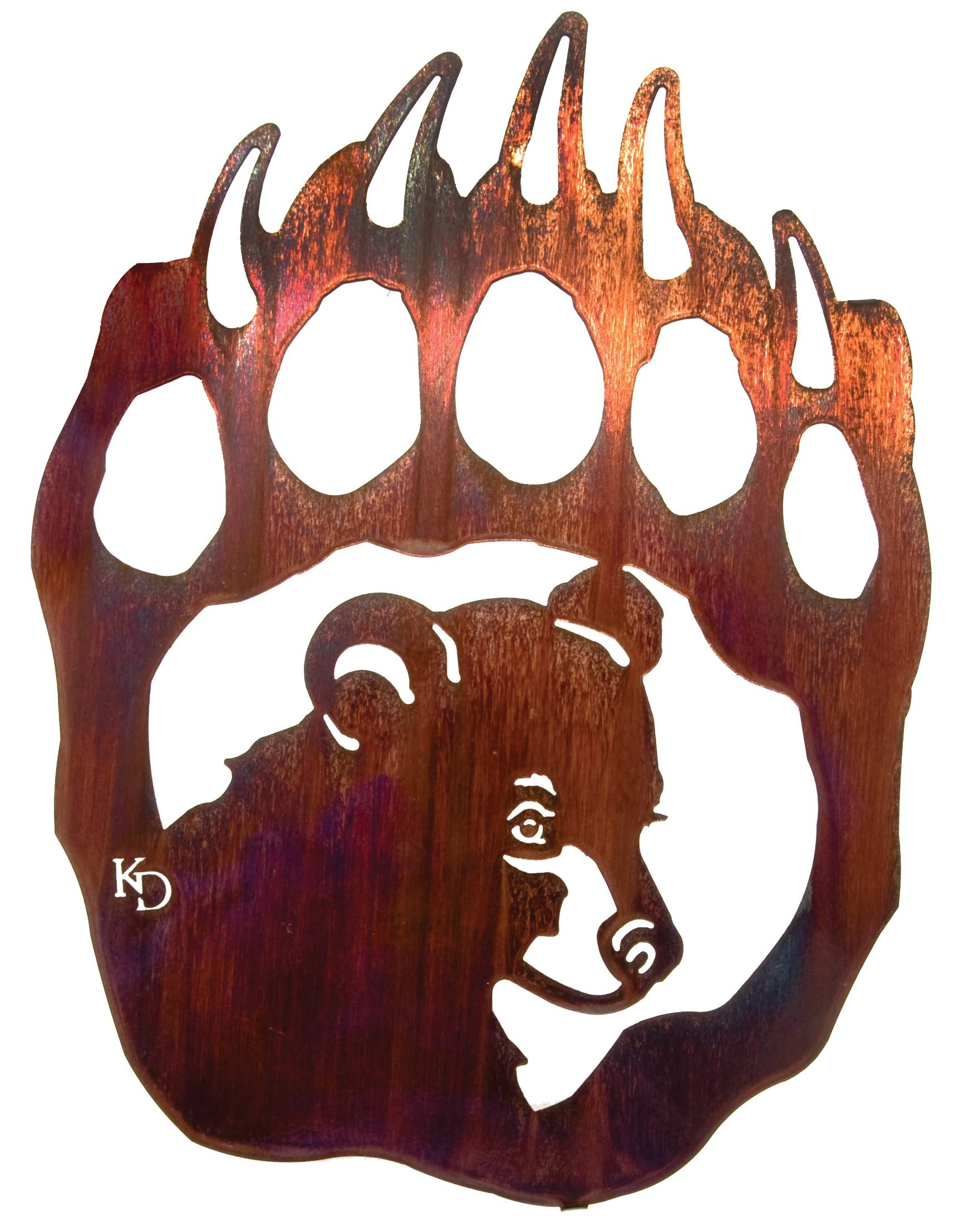 Bear Wall Art, Bear Wall Hangings, Metal Wall Sculptures In Most Popular Bear Metal Wall Art (View 4 of 20)