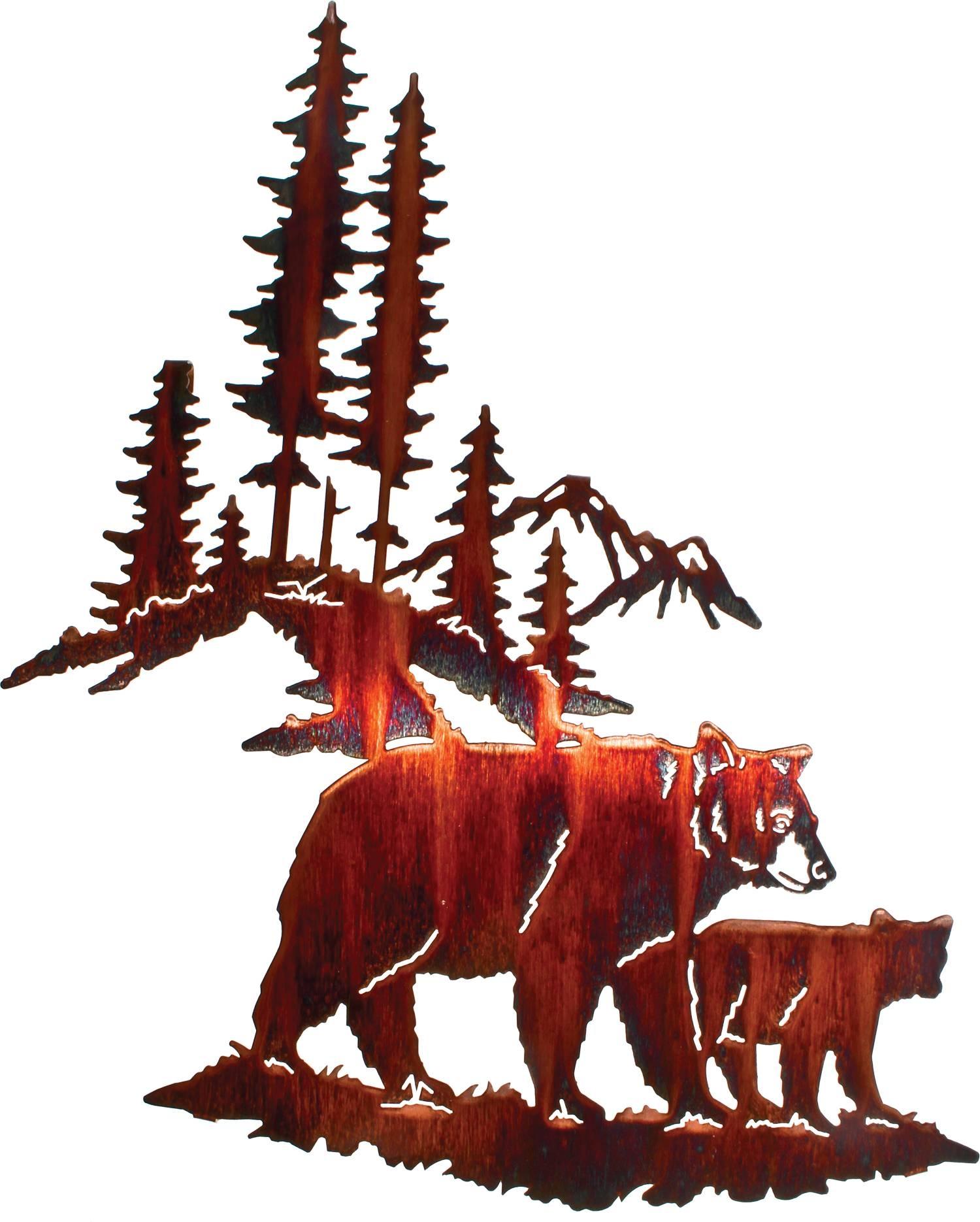Bear Wall Art, Bear Wall Hangings, Metal Wall Sculptures Pertaining To Newest Bear Metal Wall Art (View 16 of 20)