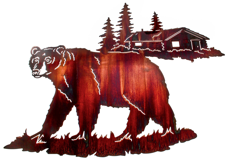 Bear Wall Art, Bear Wall Hangings, Metal Wall Sculptures Regarding Most Current Black Bear Metal Wall Art (View 7 of 20)