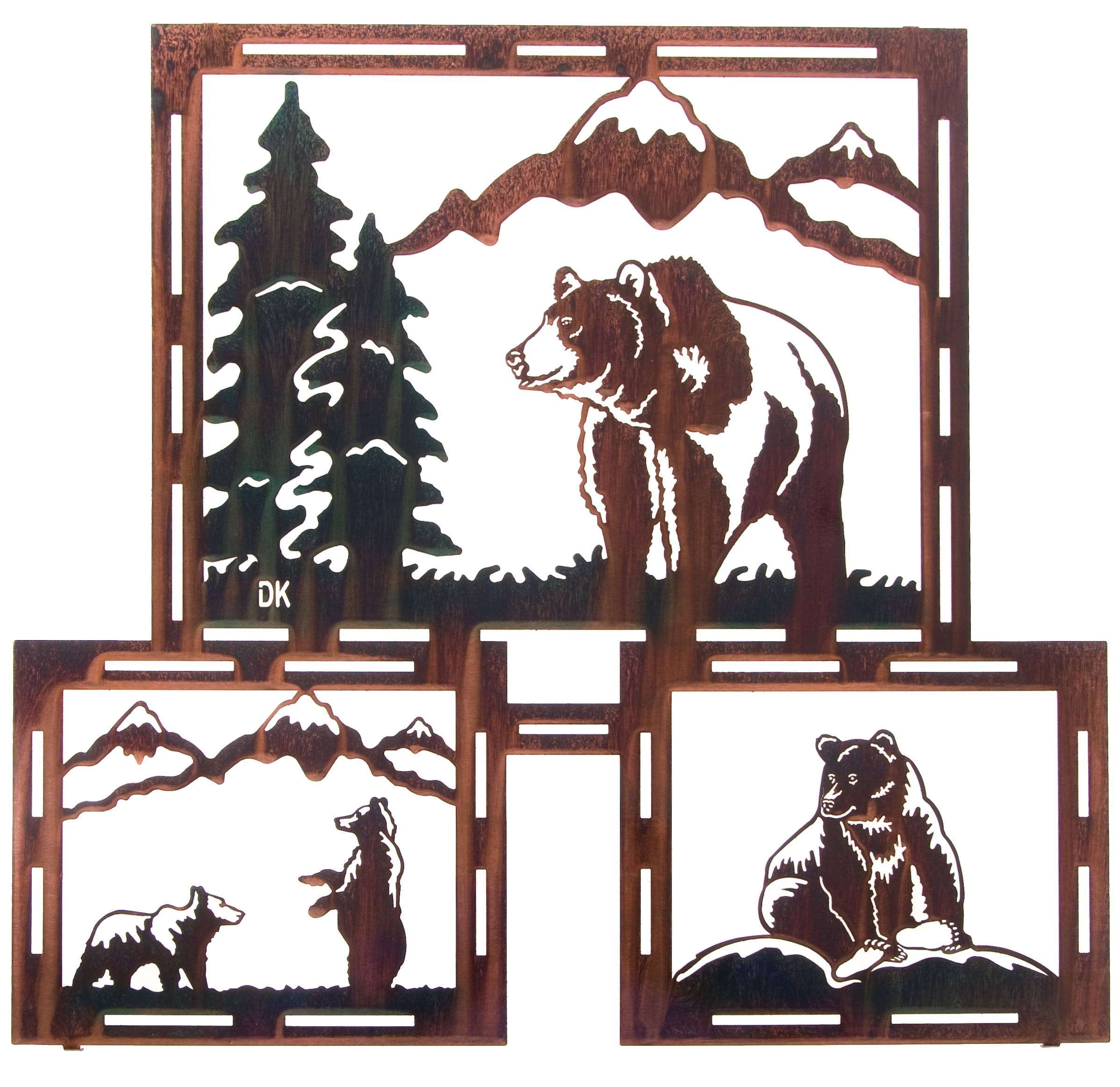 Bear Wall Art, Bear Wall Hangings, Metal Wall Sculptures Regarding Most Recent Wildlife Metal Wall Art (View 5 of 20)